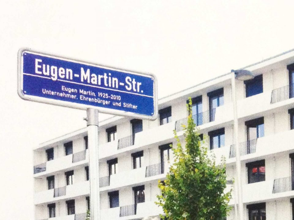 Foto Straßenschild Eugen-Martin-Strasse