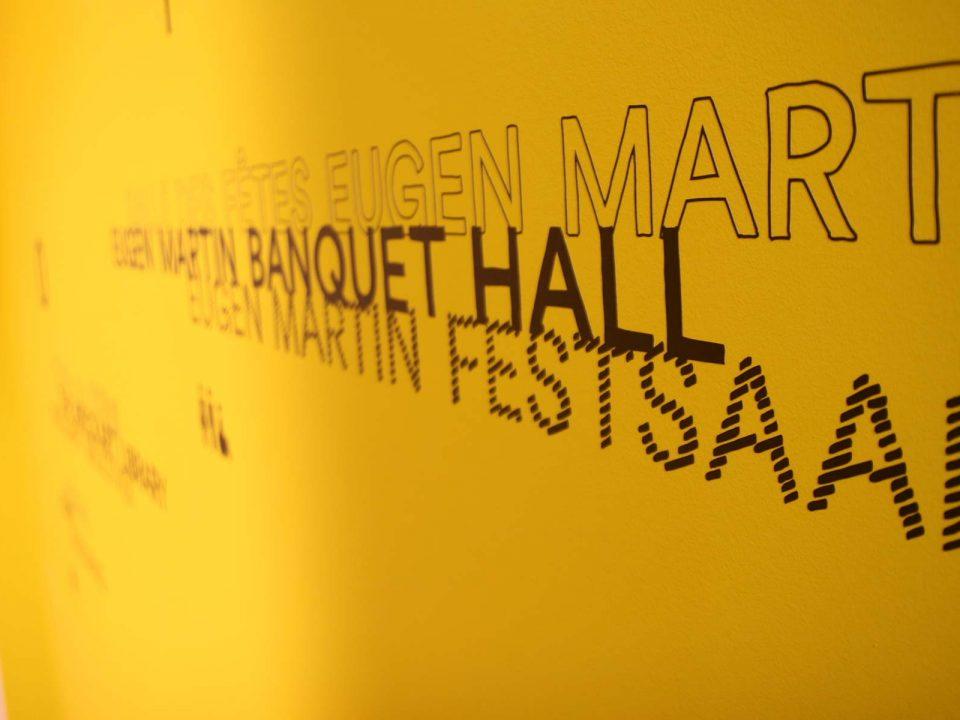 Nahaufnahme Eröffnung Eugen-Martin-Festsaal