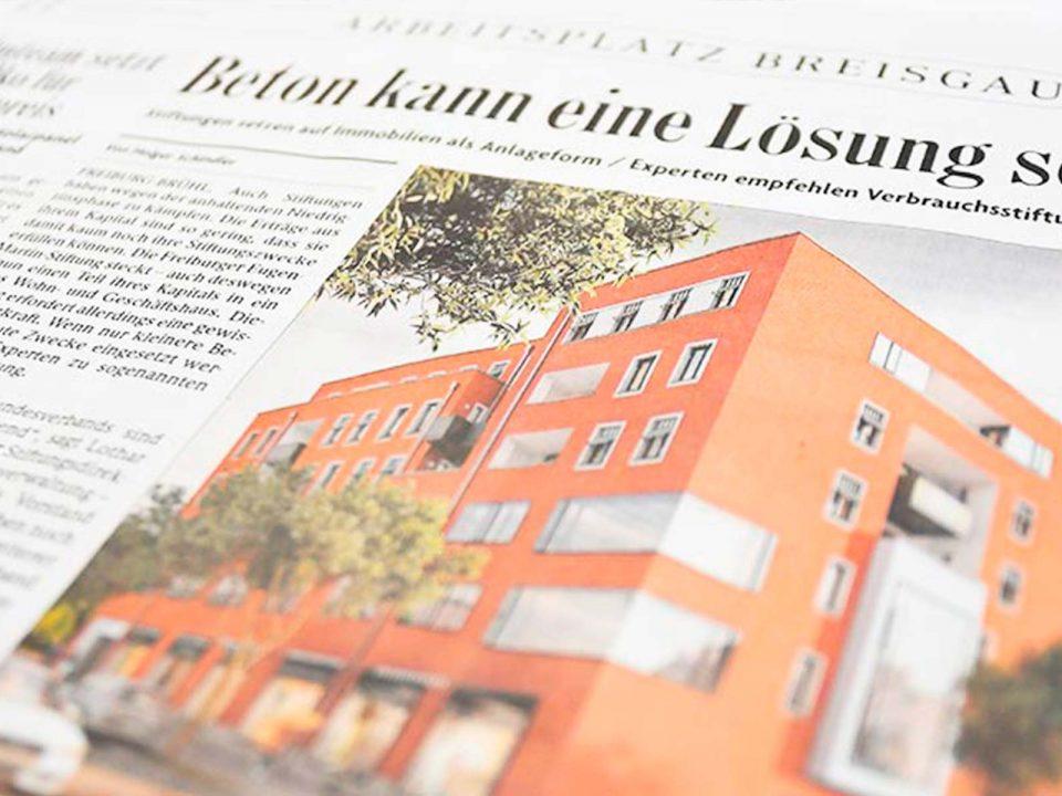 Artikel: Eugen-Martin-Stiftung setzt auch auf Immobilien