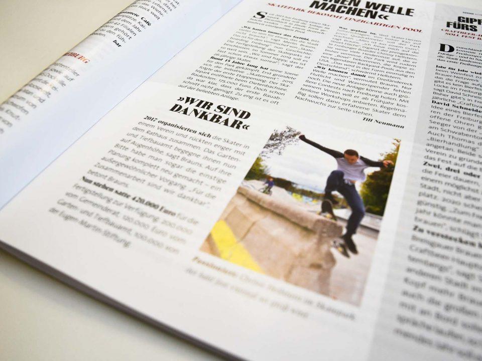 Artikel zum Skatepark Dietenbach